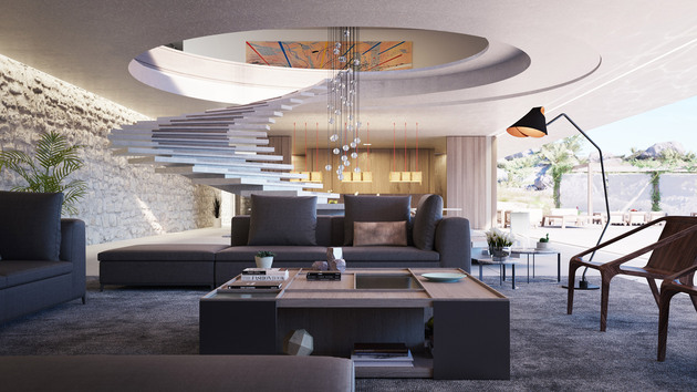 superhouse by agnus strom living thumb 630xauto 57534 Superhouse Concept by Magnus Strom is Modern Lap of Luxury