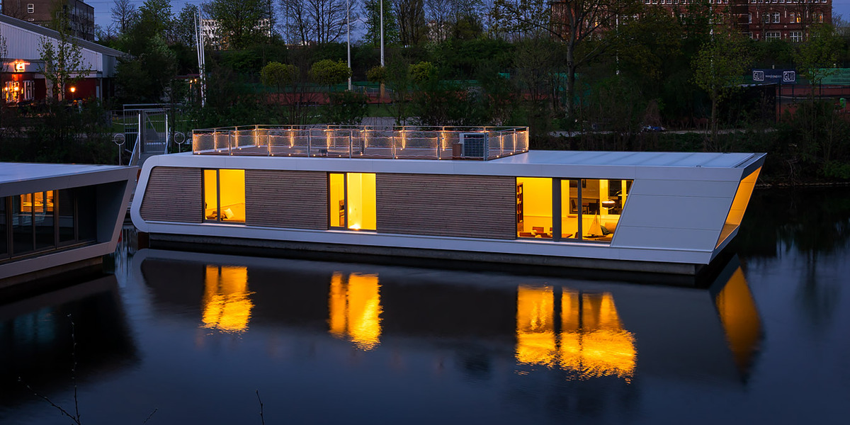 floating house architecture 12 wow designs on the water. Black Bedroom Furniture Sets. Home Design Ideas