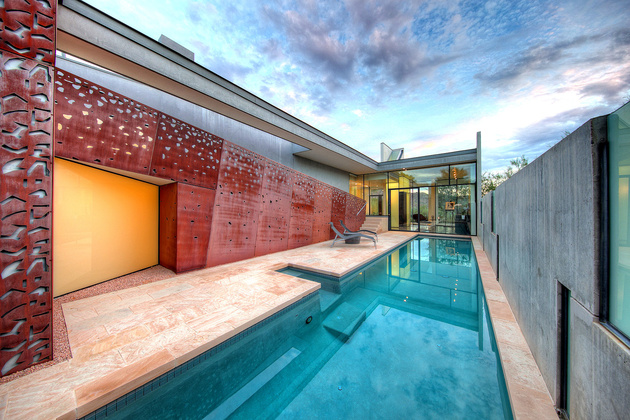 modern desert home steven holl lap pool 1 thumb 630xauto 58485 For Sale in Arizona: Modern Desert Home by Renowned Architect Steven Holl