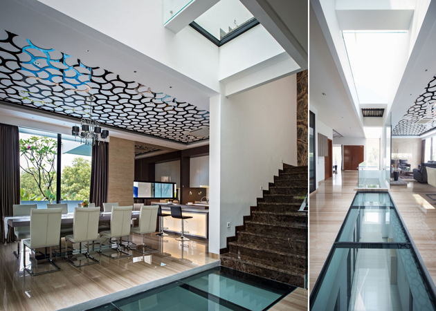 1 corridor glass floors ceilings house thumb 630xauto 61994 House with Creative Ceilings and Glass Floors