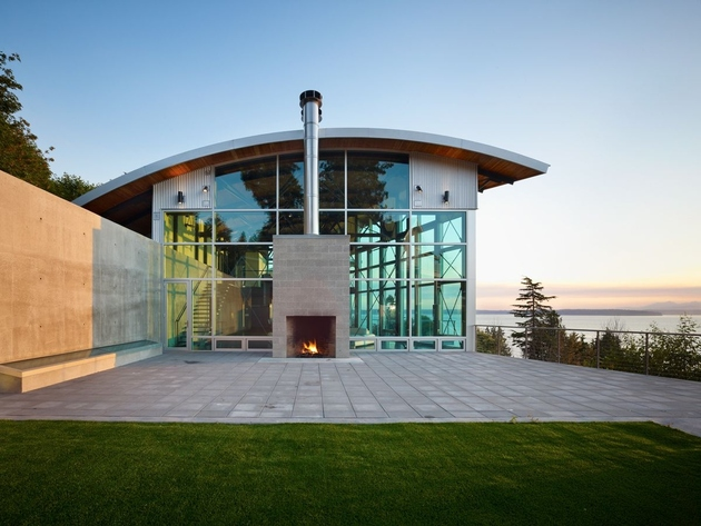 west seattle residence lawrence architects 2 thumb 630xauto 64297 Lawrence Architects Combines Steel, Glass and Concrete to Make Modern Home Magic