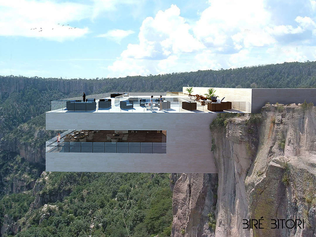 copper canyon mexico glass bottom restaurant bar 1 thumb 630xauto 66396 Would You Walk on Glass Over Copper Canyon, Mexico?