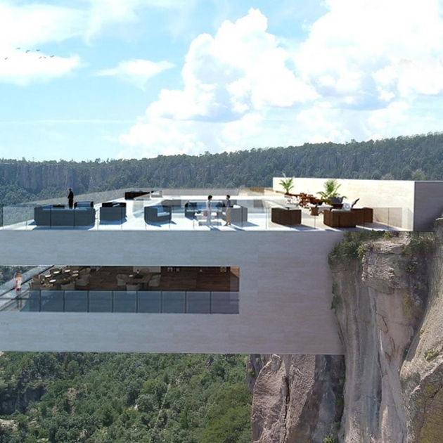 copper canyon mexico glass bottom restaurant bar 2 thumb 630xauto 66397 Would You Walk on Glass Over Copper Canyon, Mexico?