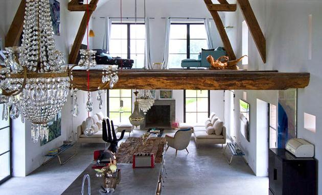 View In Gallery Frecnh Barn Home Conversion Loft Area