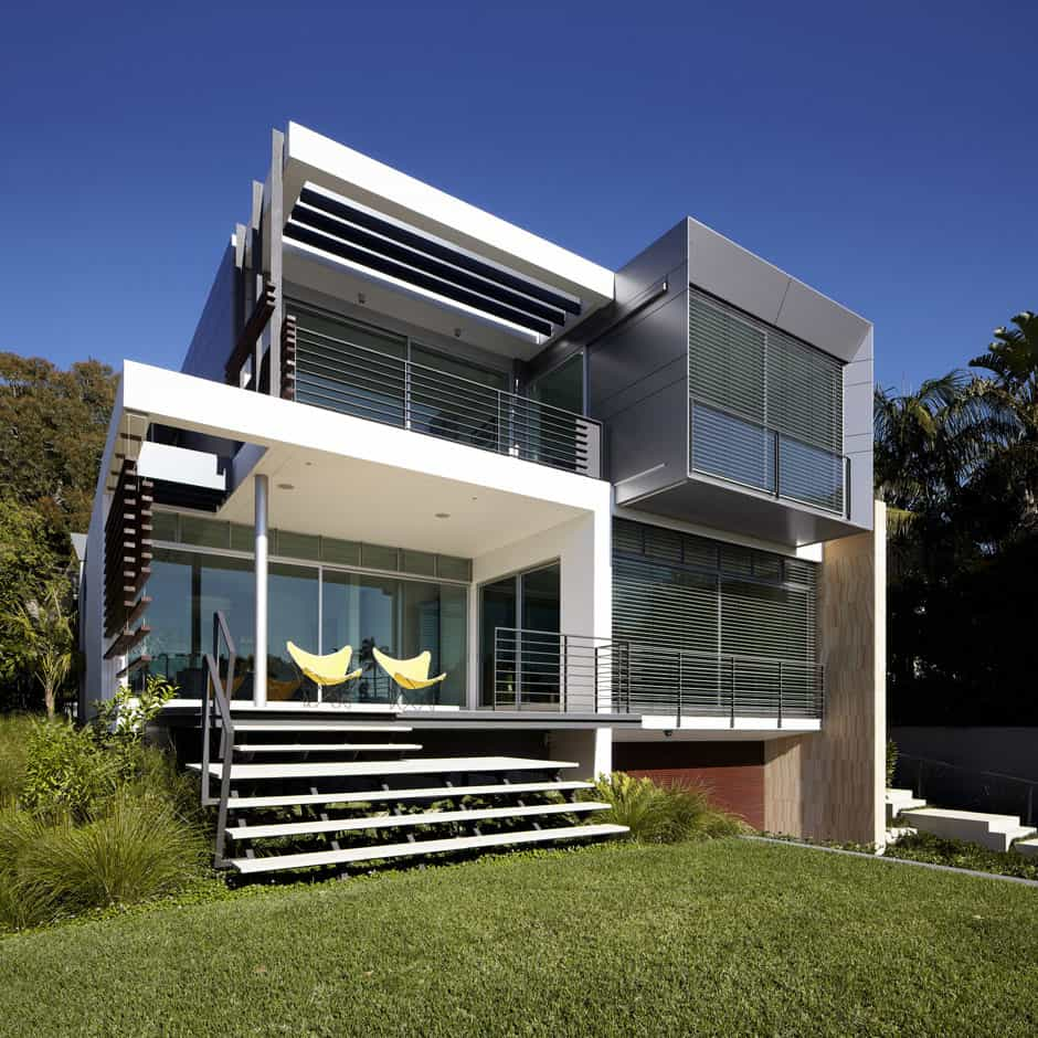 House design roof deck - View In Gallery Aussie House With Spiral Staircase Leading To Rooftop