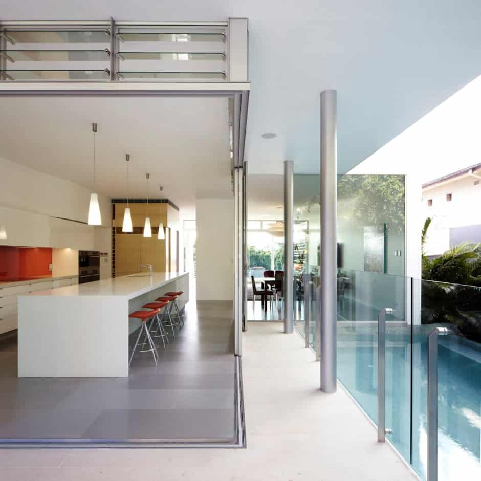 View In Gallery Aussie House With Spiral Staircase Leading To Rooftop