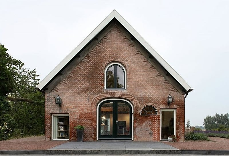 Authentic Netherlands barn renovated into rustic style farm house