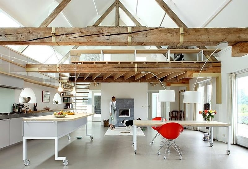 View In Gallery Authentic Netherlands Barn Renovated Into Rustic Style Farm
