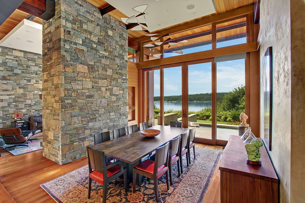 Superior View In Gallery Bainbridge Island House Of Ancient Wood Awesome Views