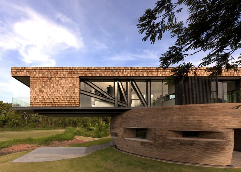 architectural home design. View in gallery balancing thai home sophisticated contrast between  architectural styles Balancing Thai Home With Sophisticated Contrast Between