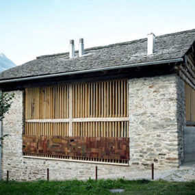 An Old Barn Gets a Modern Conversion in Soglio, Switzerland