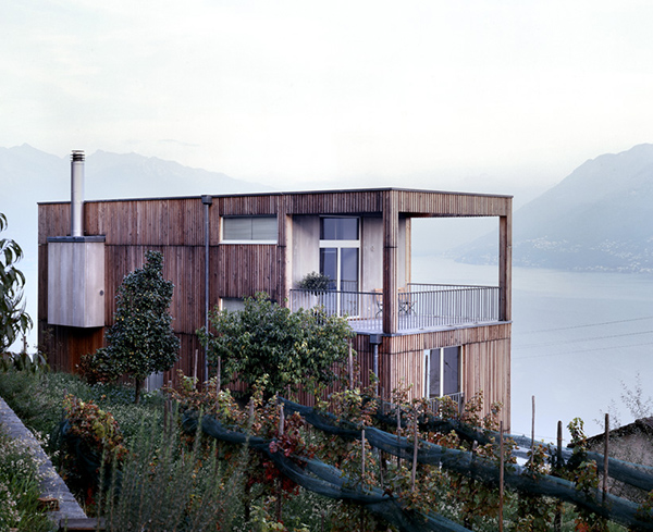 barn style house switzerland vineyard lake 1 Lake View House Design in Switzerland
