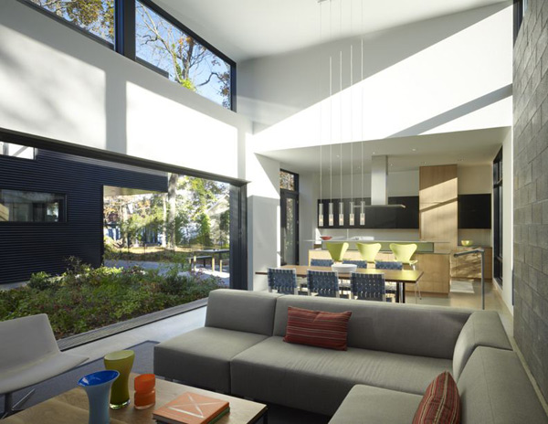 bay view homes natural modern private courtyard 2