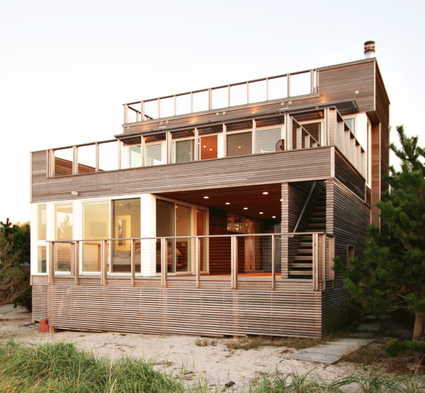 Bay view house design natural modern vacation home for Vacation home designs