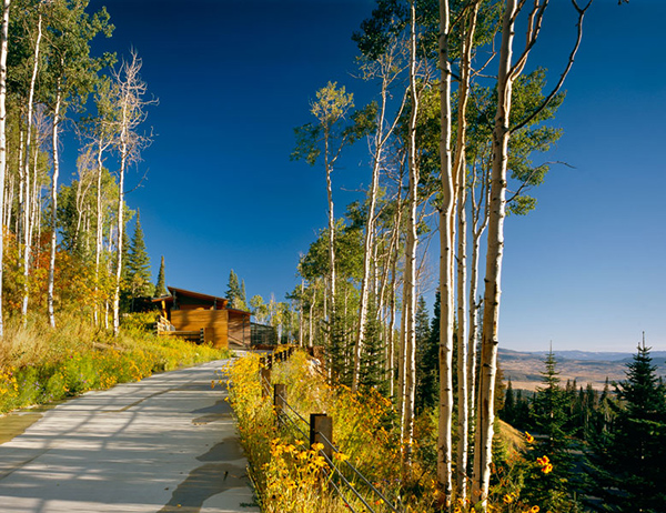 bcj farrar residence 1 Luxury Mountain Home for Sale in Park City, Utah   the pool continues into the forest ...