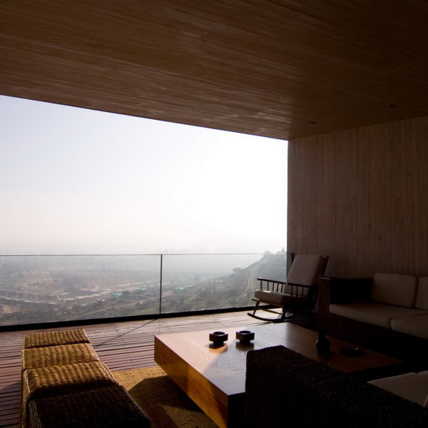 binimelis house 5 Stone House Design in Chile   contemporary on the slope