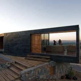 Stone House Design in Chile – contemporary on the slope