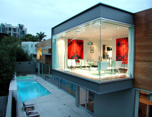 blue jay way house 2 Modern Entertainment Hub at Luxury Home in Los Angeles