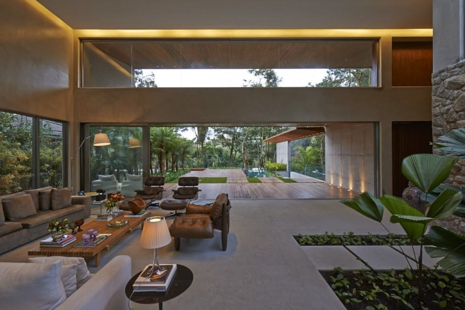 Garden Houses Designs brazil house with luxe garden and outdoor living layout