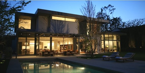 "brentwood residence 9 Contemporary ""California Cool"" House by Belzberg Architects"