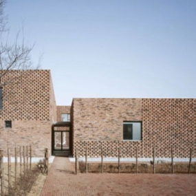 Modern Brick Home Design in China brings an innovative twist to tradition