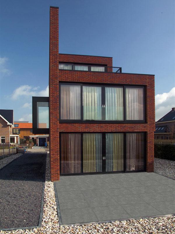 brick wall house minimalist style 3
