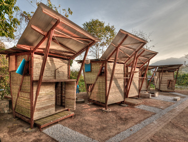 butterfly houses 2 Thailand Wood Prefab Houses with Modern Butterfly Roof
