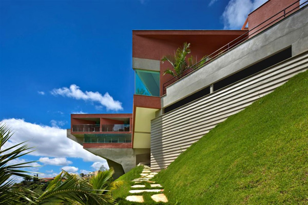 cantilever house design brazil 1