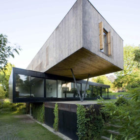 Contemporary Cantilever House Design by Paris Architects