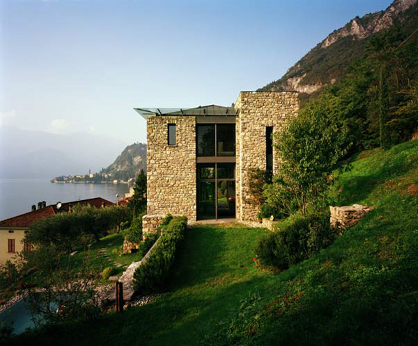 Italian stone house with rustic appeal on lake como by for Casa italia design