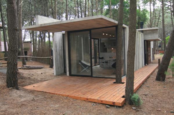 casa xs 3 Vacation House Design   rustic concrete cottage built for minimal maintenance