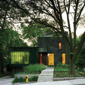 Eco-friendly Home Design in Toronto – a window with a waterfall effect…