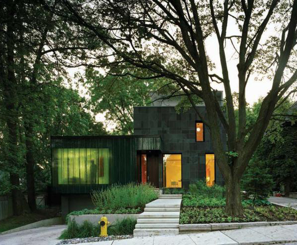 cascade house 1 Eco friendly Home Design in Toronto   a window with a waterfall effect...