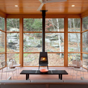 Cedar Porch House transforms peripheral element into focal point