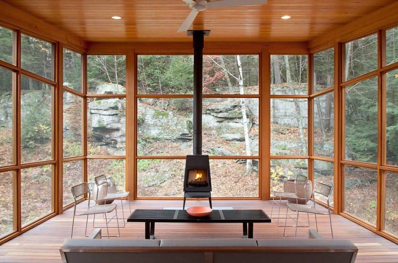 Cedar Porch House transforms peripheral element into focal point