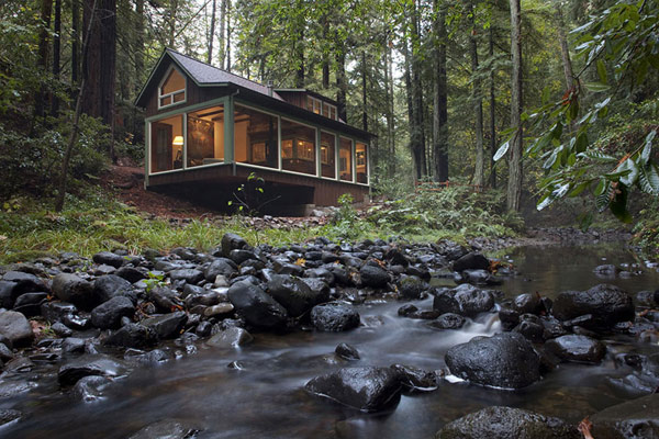 Charming Creekside Cabin with Rustic-Refined Aesthetic