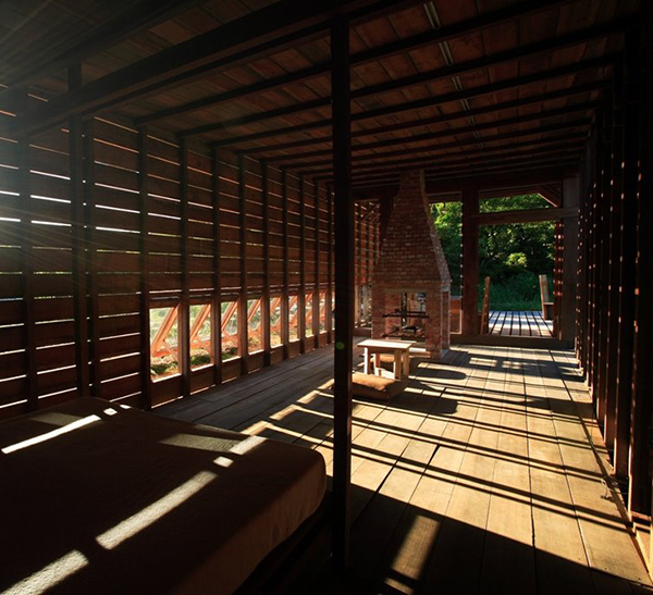 chen house 9 Mahogany Home in Taiwan   designed for winds to blow through it...