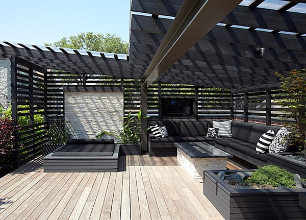 Chicago modern house design amazing rooftop patio - Gartenliege modern ...