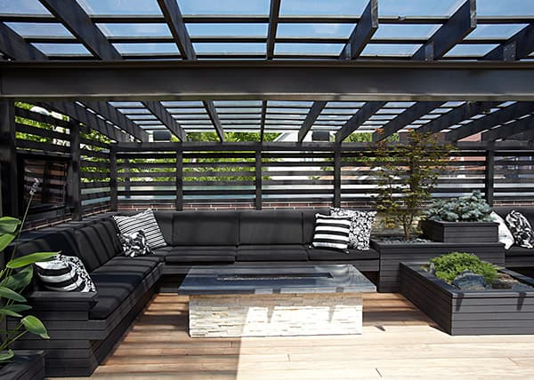 amazing in house design. chicago modern house design amazing rooftop patio 7  Chicago Modern House Design
