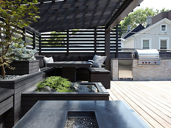 chicago modern house design amazing rooftop patio 8