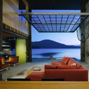 The Window to Modern Style at Chicken Point Cabin