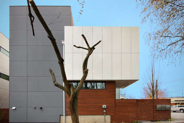 cloverdale 3 house 1 Contemporary Residential Architecture in Seattle   3 homes in 1 by Pb Elemental