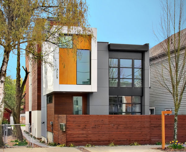 cloverdale 3 house 2 Contemporary Residential Architecture in Seattle   3 homes in 1 by Pb Elemental