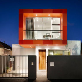 Colorful Contemporary Houses: Fiery Orange Makes an Impression