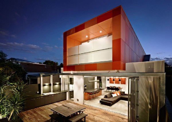 colorful contemporary houses 2 Colorful Contemporary Houses: Fiery Orange Makes an Impression