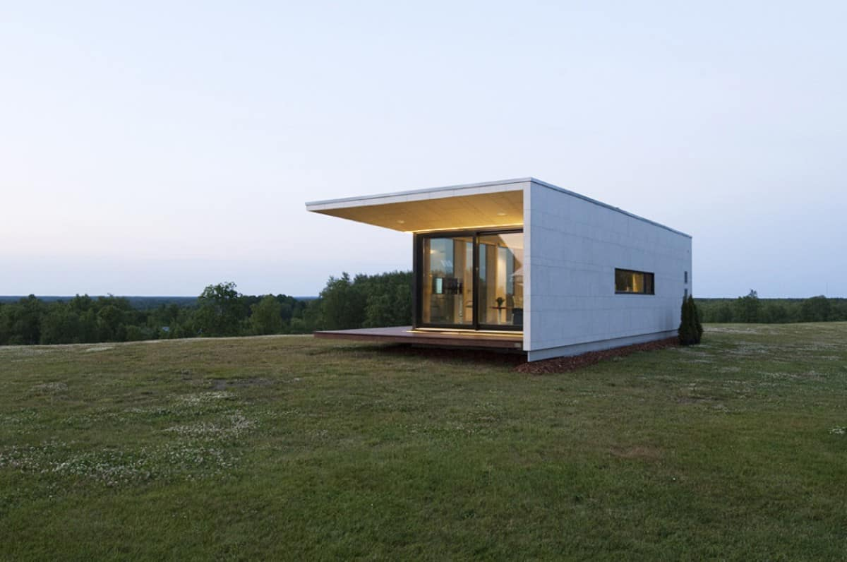 compact house addition transforms into guesthouse or shed