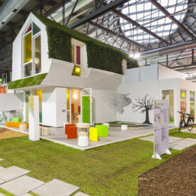 Compact Bio-home Furnished by Clei: Green Kinder House