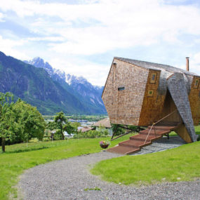 Compact Austrian Mountain House On Stilts