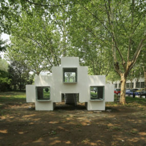 Micro Modular Block House in Beijing urban park
