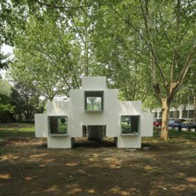 Micro Modular Block House in Beijing urban park